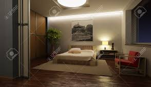 Bedroom Designer 3d Japan Style Bedroom Interior 3d Rendering Stock Photo Picture And