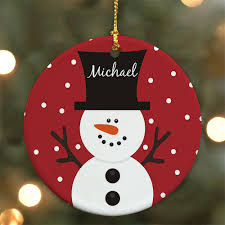 snowman personalized ornament giftsforyounow