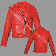 ladies leather motorcycle jacket ladies red soft leather motorcycle biker club jacket coat