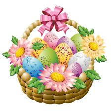 easter basket with easter eggs and flowers png picture gallery