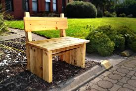 Wooden Bench Plans With Storage by Cosy Bench For Two Made With Reclaimed Wood Outdoor Bench With