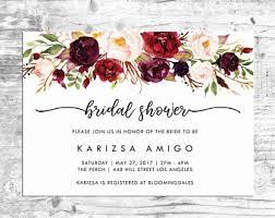 etsy wedding shower invitations bridal shower invitation etsy