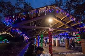 griffith park holiday light festival train best places for christmas in southern california california