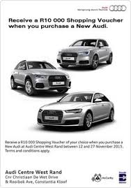 audi westrand r30 000 trade assist audi a3 carfind promotions