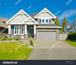 Luxury Home Design Show Vancouver Big Custom Made Luxury House Suburbs Stock Photo 116410189