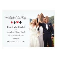 elopement invitations las vegas elopement invitations announcements zazzle