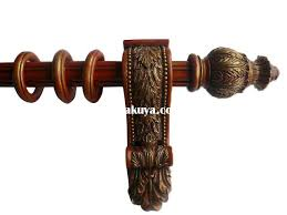 Chunky Wooden Curtain Poles Wood Curtain Rods Photo Gallery Of The Wood Curtain Rods And