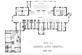 danvers state hospital danvers state insane asylum maps and plans