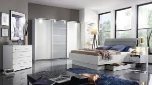 Schlafzimmerm El Weis Ettlingen Bett Für Schlafzimmer Weiß Und Hell Grau 180x200