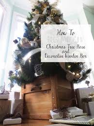 diy tutorial christmas tree cement base and decorative wooden