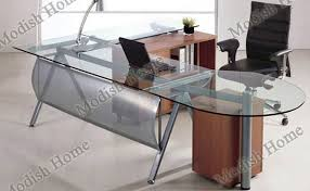 Office Furniture Glass Desk Popular Of Glass Office Tables And Blue Glass Top Modern Office