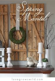 Easter Decorations Mantel by 60 Best Spring Mantels Images On Pinterest Fireplaces Mantle