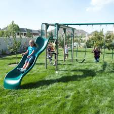exterior awesome plastic swing sets clearance ideas with grass
