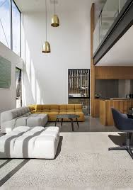 Living Room Pendant Lighting Ideas Minimalist Furniture Layout Ideas Using White And Yellow Sectional