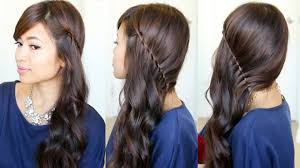 front view of side swept hairstyles side swept hairstyle back view hairstyle getty
