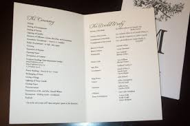 simple wedding program wording wedding program sle template business