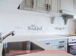 Vinyl Stickers For Kitchen Cabinets Be Thankful U0026 Blessed Fall Autumn Wall Words Vinyl Stickers