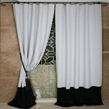 Blackout Curtains Black Simple Modern Style Splicing Polyester Artificial Fiber Blend