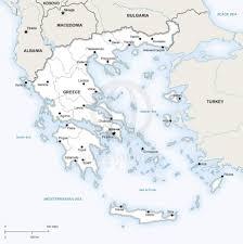 greece map political vector map of greece political one stop map