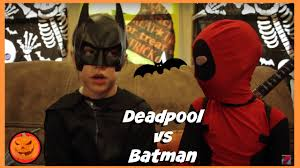 kid deadpool vs batman in real life halloween costumes new