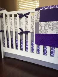 Lilac Damask Crib Bedding Tribal Crib Bedding Baby Bedding Crib Set By Custombebetextiles