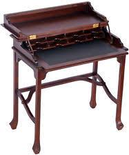 bureau style colonial bureaux et tables d ordinateur acajou pour la maison ebay