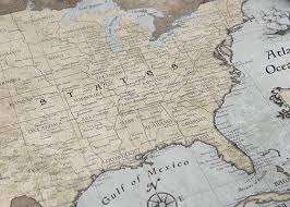usa map just states usa travel map poster rustic vintage conquest maps