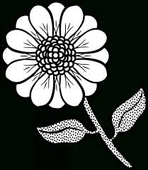 flower drawings for coloring simple flower coloring pages az