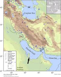 Caspian Sea World Map by Maximum Horizontal Stress Orientations In Iran From The World