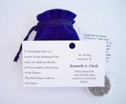 forget me not seed packets forget me not seed packets personalized flower seed pouches