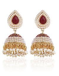 design of earing royal bling brass jhumka earrings for women shining