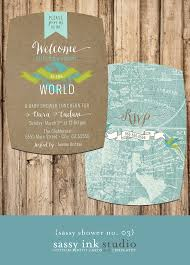Customized Baby Welcome To The World Little One Customized Baby Shower Invitation