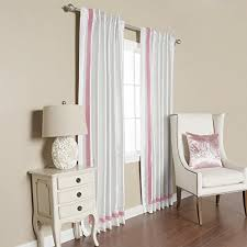 Thermal Back Curtains Best Home Fashion Pink Border Faux Silk Ivory Insulated Thermal