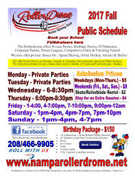 halloween city nampa public skating schedule u0026 prices nampa rollerdrome
