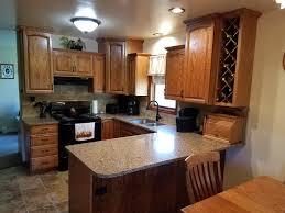custom oak kitchen cabinets