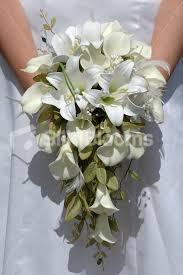 Silk Wedding Flowers Shop Ivory Calla Lily Artificial Bridal Wedding Bouquet W Foliage