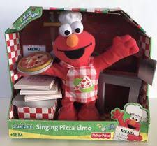 sesame street singing pizza elmo electronic plush fisher 2007