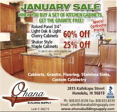 kitchen cabinet advertisement ohana building supply honolulu hawaii