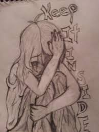 crying hiding her face by kristakat247 on deviantart
