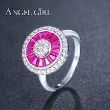 aliexpress buy new arrival white gold color aaa aliexpress buy angel girl new arrival big ring white