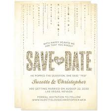 save the dates save the date cards chagne gold glitter gems the
