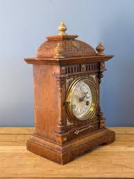 Mantel Clocks Antique Antiques Atlas Late Victorian Junghans Mantle Clock