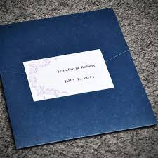 affordable pocket wedding invitations purple damask card and blue pocket affordable wedding