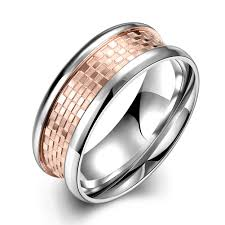 fashion rings men images Fashion rings men trendy geometry rose gold plated stainless steel jpeg