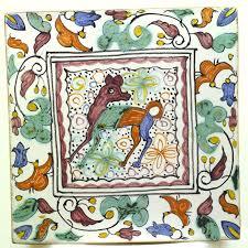 Decorative Tile Borders Vintage Handpainted Decorative Tile Conimbriga Portugal Animal