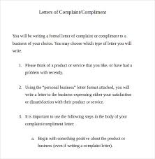 12 letter of complaint templates u2013 free sample example format