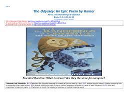 odyssey book 1 u2013 a goddess intervenes