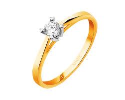 pierscionki apart pierścionek z żółtego złota z brylantem wzór 101 116 apart
