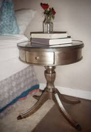 Diy Round End Table by End Tables Designs Diy Antiqued Silver End Table Round Shape