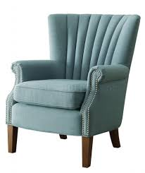 accent chair 1260f2s in blue fabric by homelegance